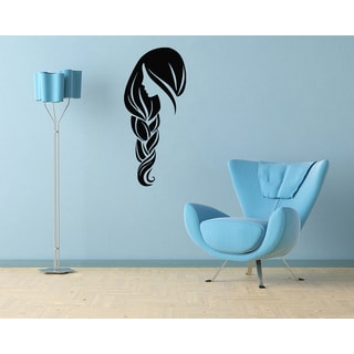 Girl with Braid Vinyl Wall Decal