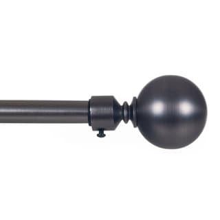 Lavish Home Sphere Finial Adjustable Modern Curtain Rod Set