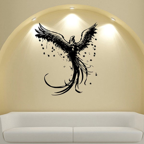 Phoenix With Stars Vinyl Wall Decal