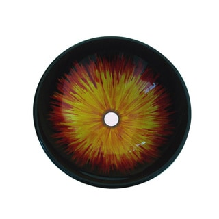 Sunburst Glass Sink Bowl
