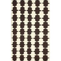 nuLOOM Flatweave Chess Trellis Brown Wool Rug (5' x 8') - 5' x 8'