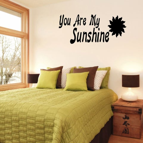 'You Are My Sunshine' Vinyl Wall Decal
