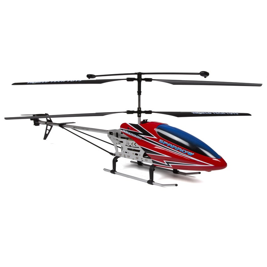 World Tech Sparrow 3.5CH Metal (Grey) RC Helicopter (3.5C...