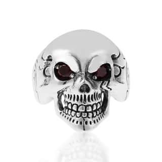 Handmade Punk Skull Cubic Zirconia Eyes Sterling Silver Ring (Thailand)|https://ak1.ostkcdn.com/images/products/8548651/P15827326.jpg?impolicy=medium