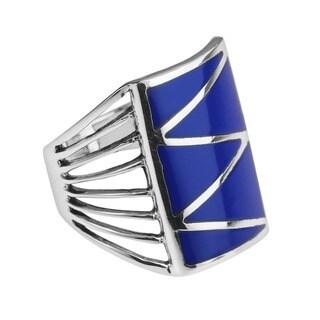 Stripe Line Zigzag Stone .925 Silver Ring (Thailand)