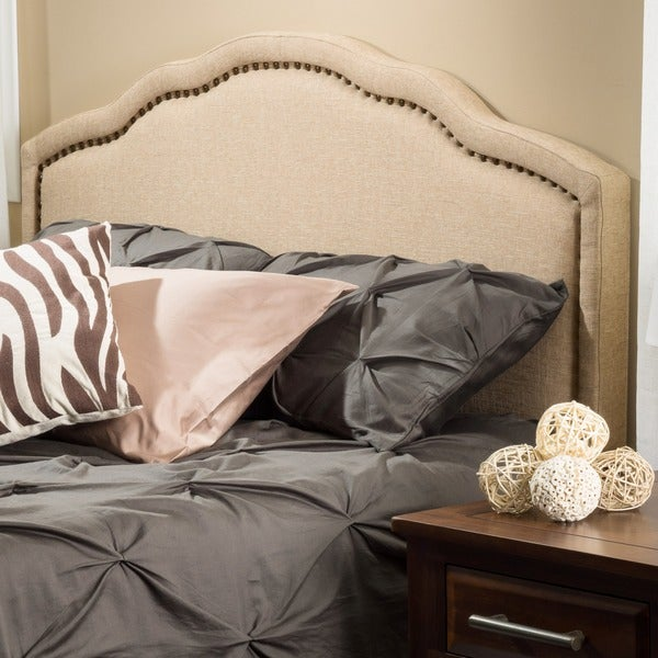 Bellagio Adjustable Full/ Queen Fabric Headboard by Christopher Knight Home - Bellagio Adjustable Full/ Queen Fabric Headboard By Christopher