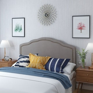bellagio adjustable full queen fabric headboard by christopher knight home