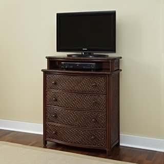 Home Styles Marco Island Media Chest Refined Cinnamon Finish