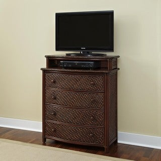 Marco Island Media Chest Refined Cinnamon Finish by Home Styles