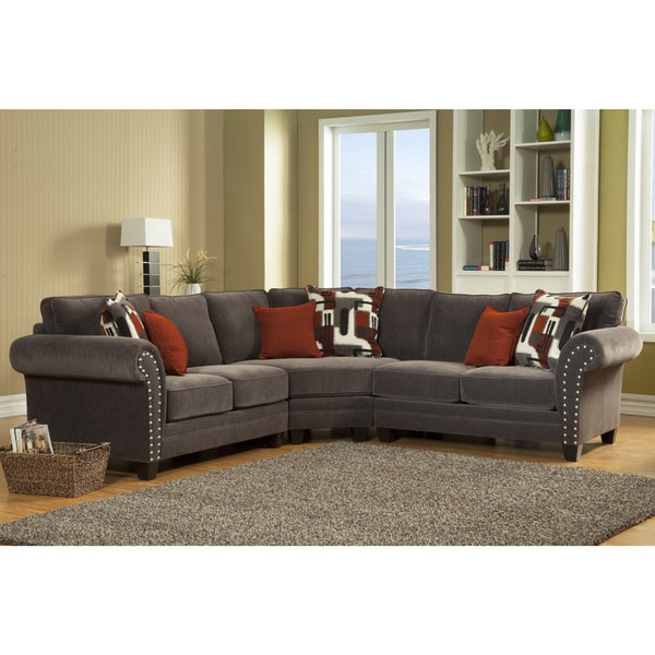 Bon Furniture Of America Essence Chenille Sectional Sofa