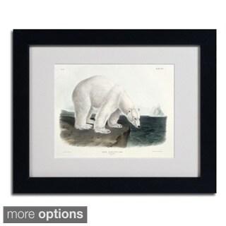 John James Audubon 'Ursus Maritimus Polar Bear' Framed Matted Art