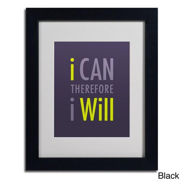 Megan Romo 'I Will I' Framed Matted Art