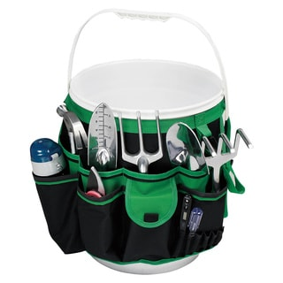 Green Hanging Pocket Organizer for Buckets