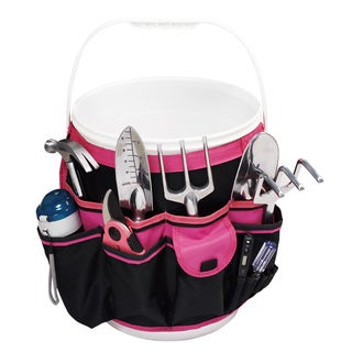 Pink Hanging Pocket Organizer for Buckets - Pink