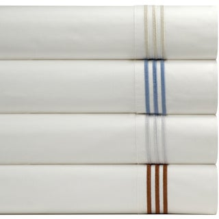 Pointehaven Egyptian Cotton Deep Pocket Embroidered Percale Sheet Set