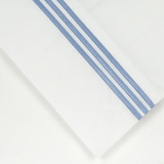Pointehaven Egyptian Cotton 300 TC Deep Pocket Embroidered Percale Sheet Set