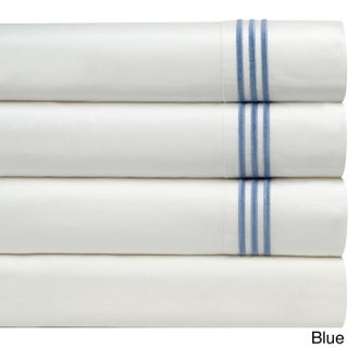 Pointehaven Egyptian Cotton Extra Deep Pocket Embroidered Percale Sheet Set (More options available)