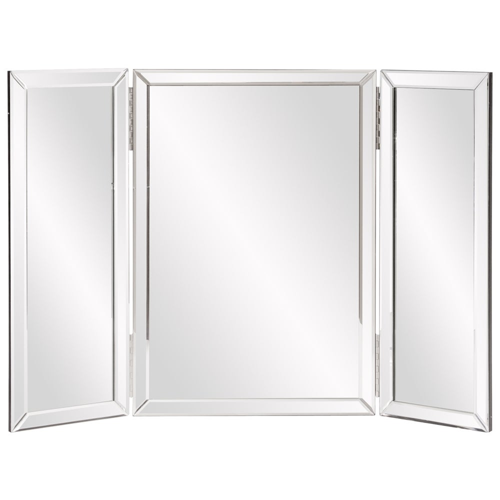 Shop Clay Alder Home Steel Trifold Vanity Mirror - Free Shipping On ...