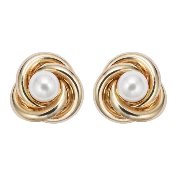14kt Rose Gold Love Knot Stud Earrings   Ross-Simons  Gold Love Knot Earrings