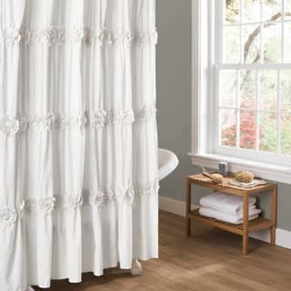 Buy White Pintuck Shower Curtains Online At Overstock
