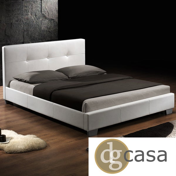 Shop Dg Casa Monterey White Upholstery Bed On Sale Free Shipping