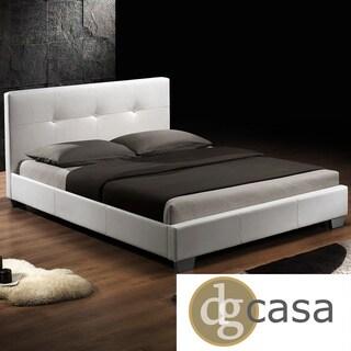 DG Casa Monterey White Upholstery Bed