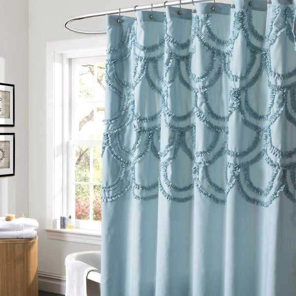 Lush Decor Chic Blue Shower Curtain