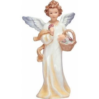 Goebel German Porcelain Hand Painted Faith Summer Angel with Basket