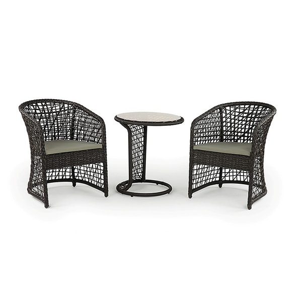 Coquette All-weather Wicker Patio Furniture Bistro Set - Free Shipping ...
