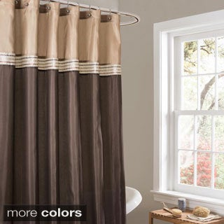 Curtains Ideas cheap brown curtains : Brown Shower Curtains - Overstock.com - Vibrant Fabric Bath Curtains