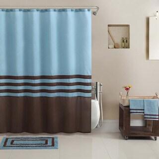 VCNY Hotel Collection Shower Curtain, BathTowel, Rug Set