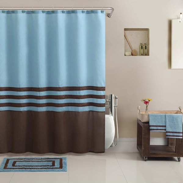 Shop VCNY Hotel Collection Shower Curtain BathTowel Rug Set