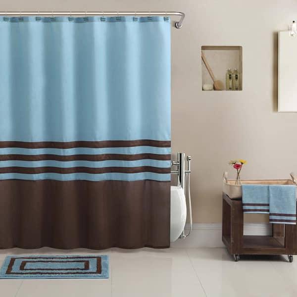 Shower Curtain Bathtowel Rug Set