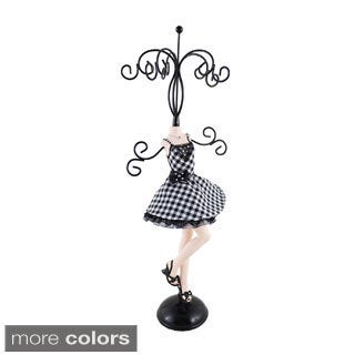 Jacki Design Retro Plaid Jewelry Mannequin (Large)