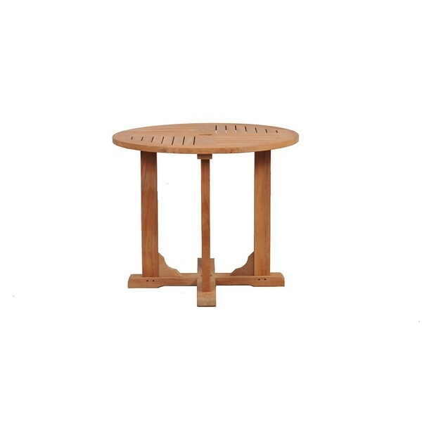 Grade A Teak 36 Inch Round Dining Patio Table