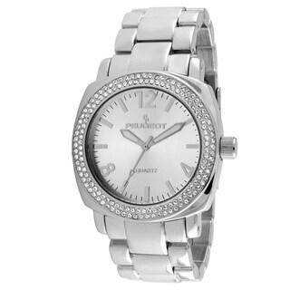 Peugeot Women's Silver-Tone Crystal Bracelet Link Watch
