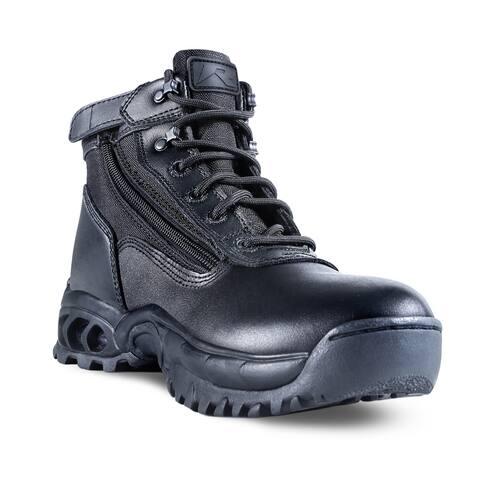 Men's Mid Side Zip Steel Toe Work Boot