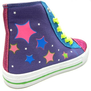 Blue Children's K-Stars Glitz High Tops