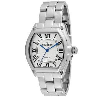 Peugeot Women's Silver-Tone Roman Numeral Bracelet Watch