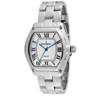 Peugeot Women's Silver-Tone Roman Numeral Bracelet Watch|https://ak1.ostkcdn.com/images/products/8549642/P15827955.jpg?impolicy=medium