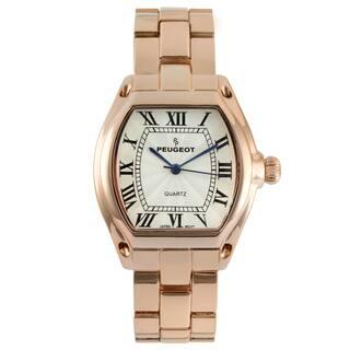 Peugeot Women's Rose Goldtone Roman Numeral Bracelet Watch|https://ak1.ostkcdn.com/images/products/8549648/Peugeot-Womens-Rose-Goldtone-Roman-Numeral-Bracelet-Watch-P15827956.jpg?impolicy=medium