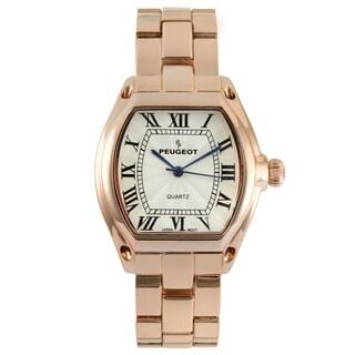 Peugeot Women's Rose Goldtone Roman Numeral Bracelet Watch