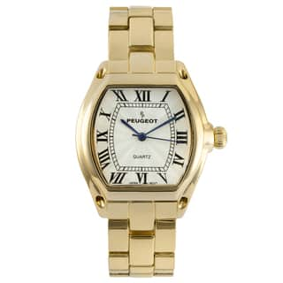 Peugeot Women's Goldtone Roman Numeral Bracelet Watch|https://ak1.ostkcdn.com/images/products/8549650/P15827952.jpg?impolicy=medium