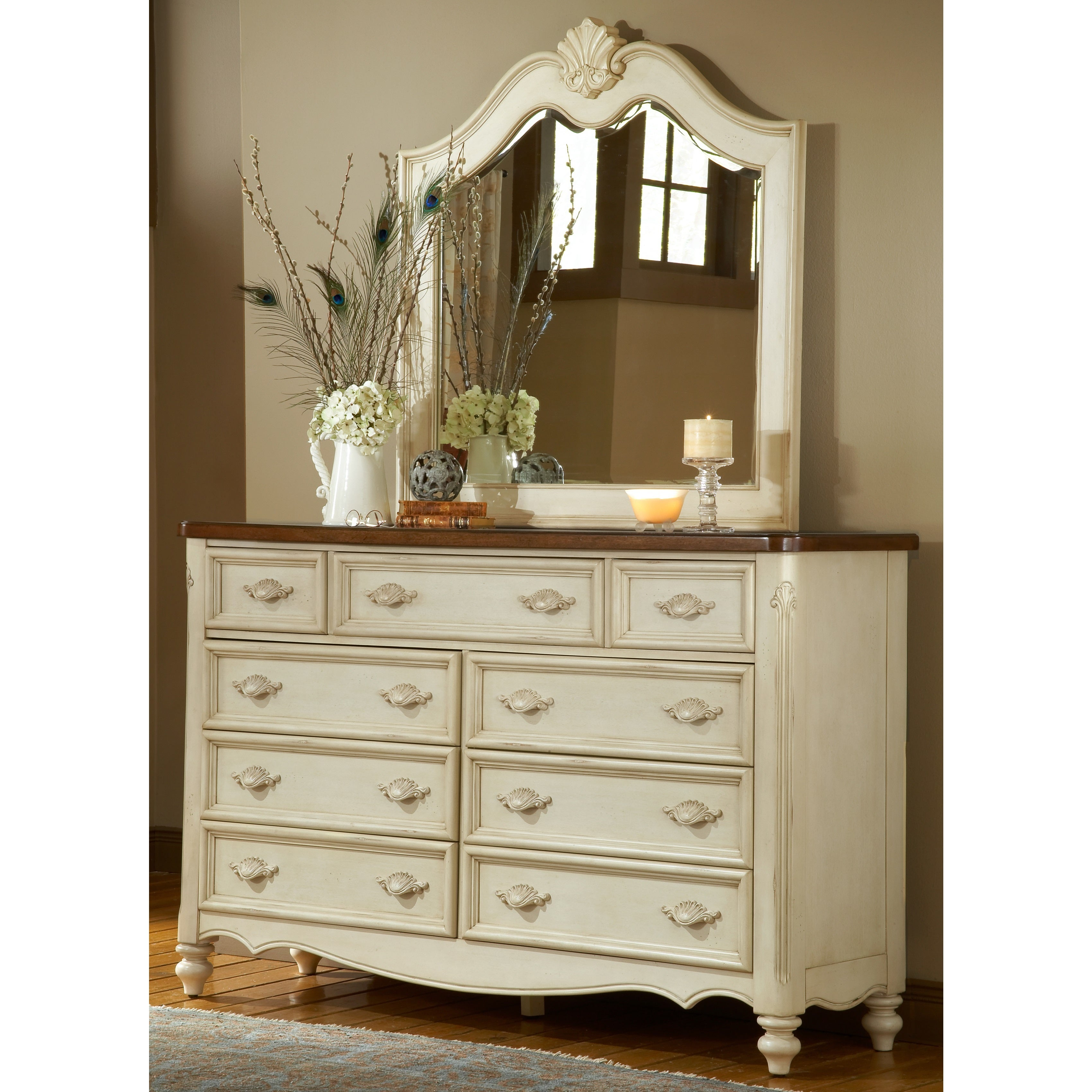 Crescent Manor 9 Drawer Dresser And Optional Mirror By Greyson Living