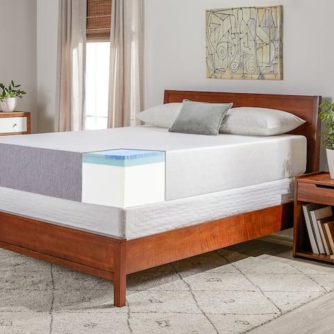 OSleep 12-inch Medium Firm Gel Memory Foam Mattress and Foundation Set