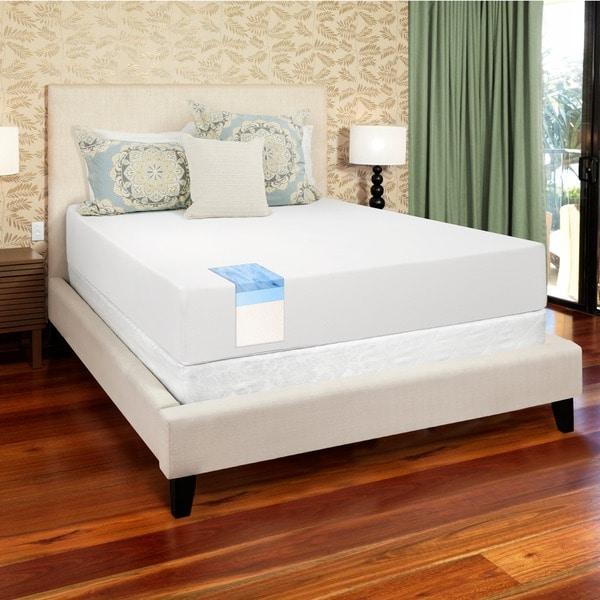 select luxury gel memory foam 12 inch king size medium. Black Bedroom Furniture Sets. Home Design Ideas