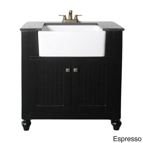 Legion Furniture 30-inch Bathroom Vanity Farmhouse Apron Style Single-sink With Granite Top