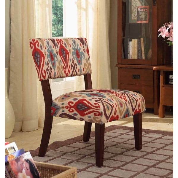 Shop Homepop Multicolor Ikat Large Accent Chair Free