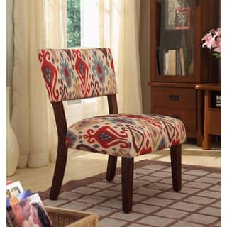 HomePop Multicolor Ikat Large Accent Chair|https://ak1.ostkcdn.com/images/products/8549801/Multi-color-Ikat-Large-Accent-Chair-P15828104.jpg?impolicy=medium