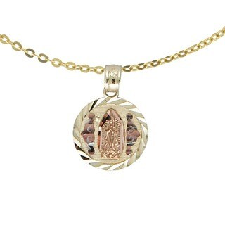 14k Tricolor Gold Guadalupe Pendant Necklace